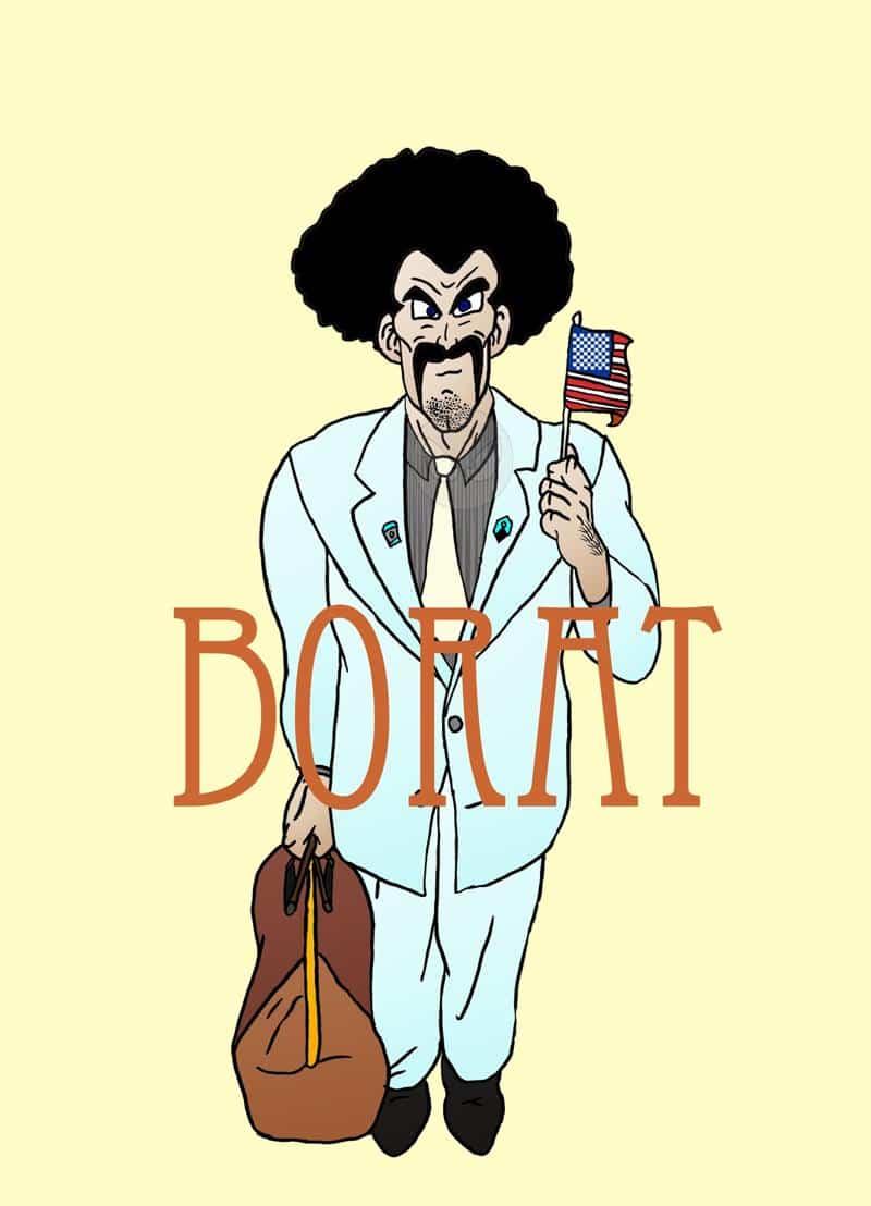 Mr. Satan als Borat xD